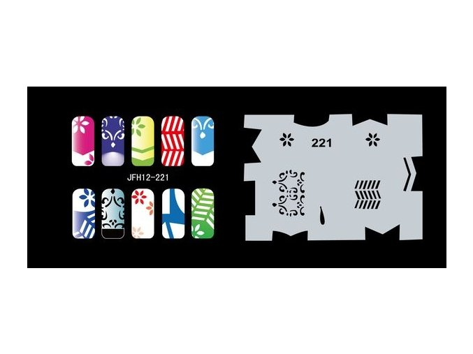 Fengda  JFH12-221 (airbrush nail art) körömsablon