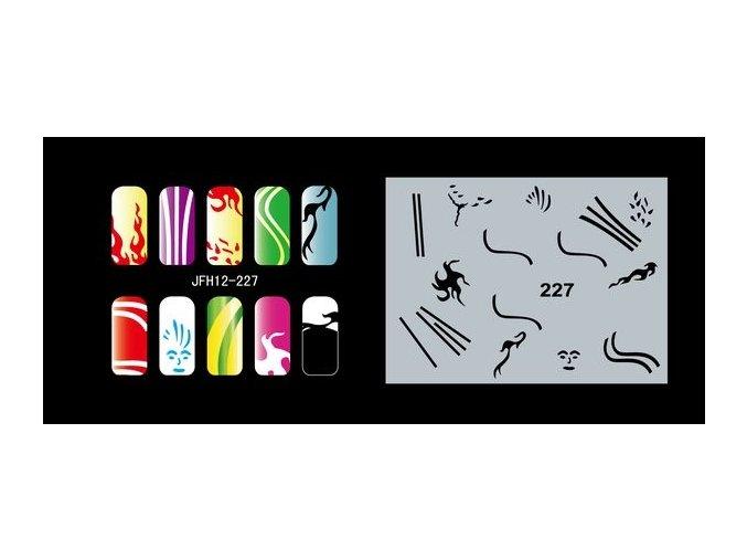 Fengda  JFH12-227 (airbrush nail art) körömsablon