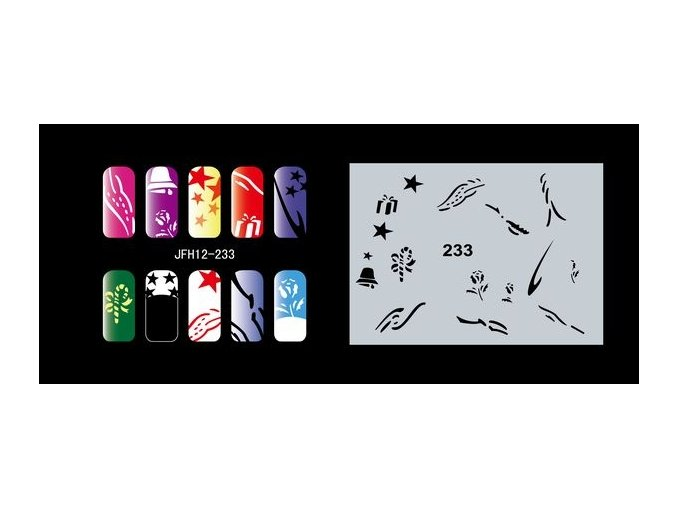 Fengda  JFH12-233 (airbrush nail art) körömsablon