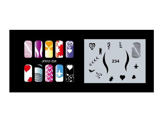 Fengda  JFH12-234 (airbrush nail art) körömsablon