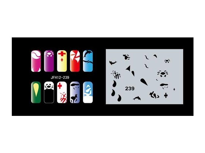 Fengda  JFH12-239 (airbrush nail art) körömsablon