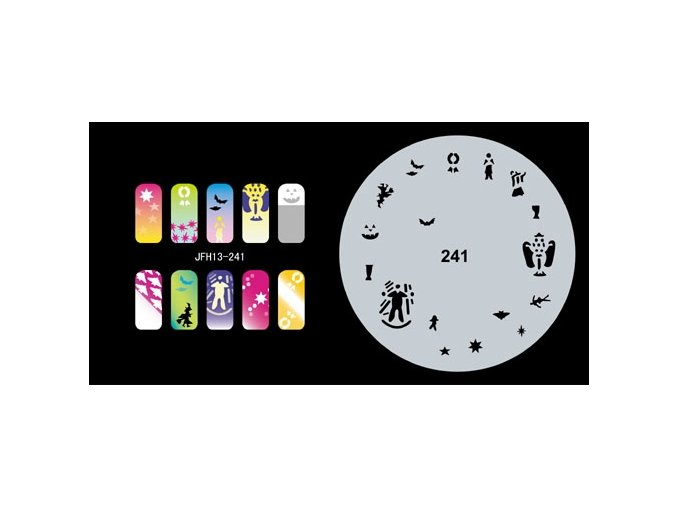 Fengda  JFH13-241 (airbrush nail art) körömsablon