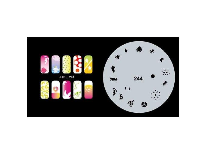 Fengda  JFH13-244 (airbrush nail art) körömsablon
