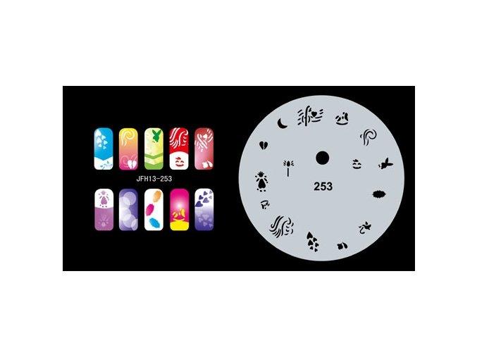 Fengda  JFH13-253 (airbrush nail art) körömsablon