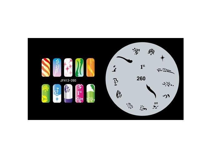 Fengda  JFH13-260 (airbrush nail art) körömsablon