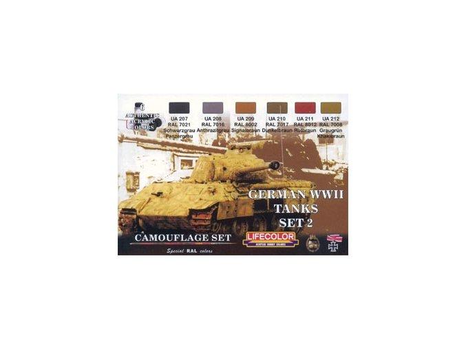 Álcázási színkészlet LifeColor CS03 GERMAN WWII TANKS SET2