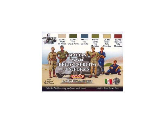 Álcázási színkészlet LifeColor CS14 ITALIAN WWII REGIO ESERCITO UNIFORMS