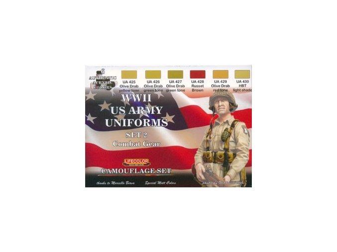 Álcázási színkészlet LifeColor CS18 WWII US ARMY UNIFORMS SET2 Combat Gear