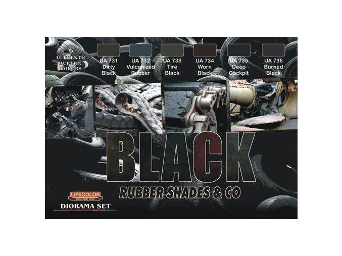Álcázási színkészlet LifeColor CS27 BLACK Rubber Shades & Co.