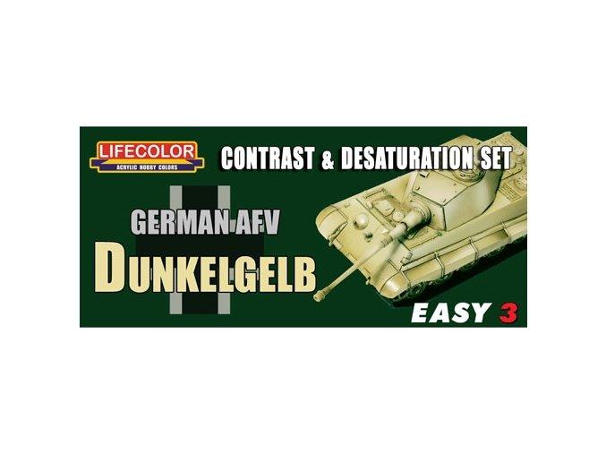 Álcázási színkészlet LifeColor MS01 GERMAN AFV DUNKELGELB