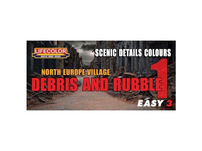 Álcázási színkészlet LifeColor MS07 NORTH EUROPE VILLAGE