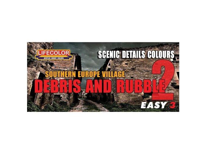 Álcázási színkészlet LifeColor MS08 SOUTHERN EUROPE VILLAGE