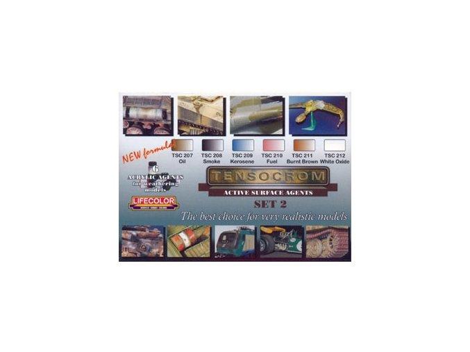 színek készlete LifeColor TSC02 TENSOCROM ACTIVE SURFACE AGENTS SET2