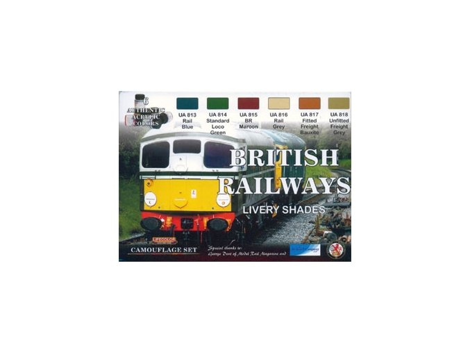 álcázási színek halmaza LifeColor XS06 BRITISH RAILWAYS LIVERY SHADES