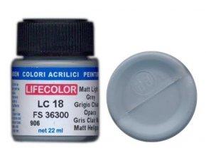 LifeColor LC18 basic matt light grey szín