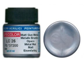 LifeColor LC26 basic matt gun metal szín