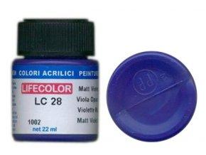 LifeColor LC28 basic matt violet szín