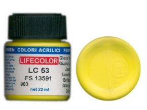 LifeColor LC53 basic gloss yellow szín