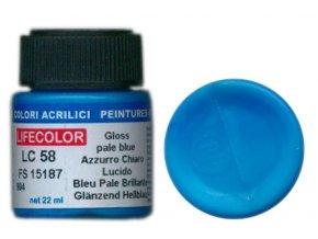 LifeColor LC58 basic gloss pale blue szín