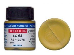 LifeColor LC64 basic gloss ochre szín