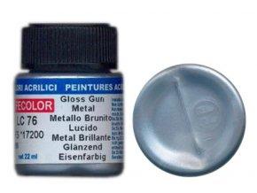 LifeColor LC76 basic gloss gun metal szín