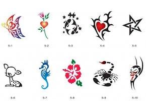 Sablon készlet a csillogó tetováláshoz Fengda S05