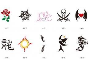 Sablon készlet a csillogó tetováláshoz Fengda S10