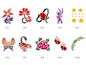 Sablon készlet a csillogó tetováláshoz Fengda S12