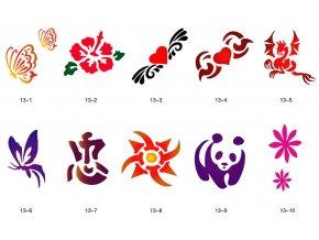 Sablon készlet a csillogó tetováláshoz Fengda S13