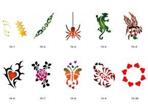 Sablon készlet a csillogó tetováláshoz Fengda S15