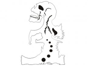 Airbrush stencil koponya/skull B009