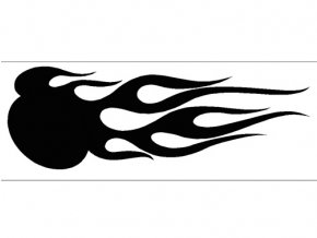 Airbrush sablon lángok/flames C010