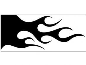 Airbrush sablon lángok/flames C119