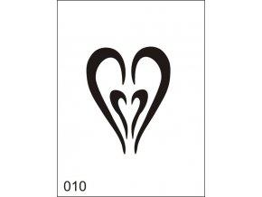 Airbrush tetoválási sablon egyetlen használatra M010