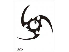 Airbrush tetoválási sablon egyetlen használatra M025
