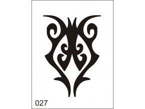 Airbrush tetoválási sablon egyetlen használatra M027