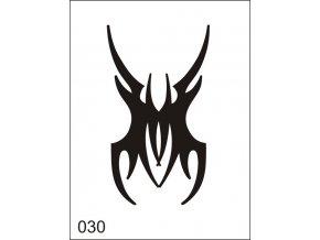 Airbrush tetoválási sablon egyetlen használatra M030