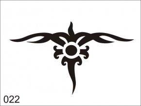 Airbrush tetoválási sablon egyetlen használatra V022