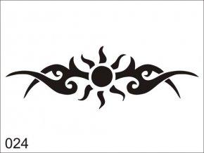 Airbrush tetoválási sablon egyetlen használatra V024
