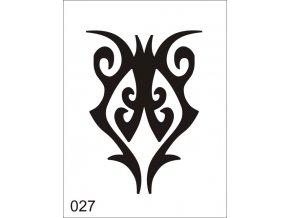 Airbrush tetoválási sablon egyetlen használatra V027
