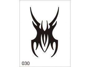Airbrush tetoválási sablon egyetlen használatra V030