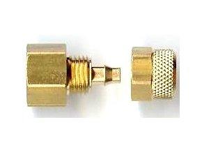 G1/8 csatlakozó 4x6 mm-es tömlőhöz (fonott és átlátszó)