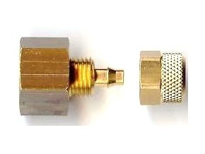 G1/4 csatlakozó 4x6 mm-es tömlőhöz (fonott és átlátszó)