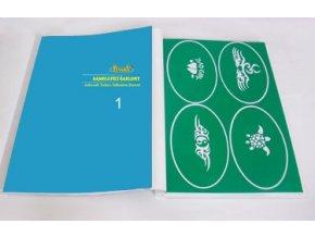Airbrush tetováló sablon - Könyv 01