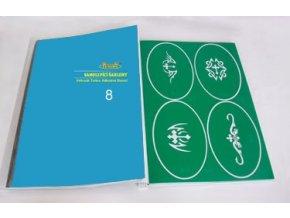 Airbrush tetováló sablon - Könyv 08