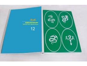 Airbrush tetováló sablon - Könyv 12
