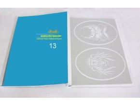 Airbrush tetováló sablon - Könyv 13
