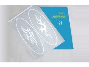 Airbrush tetováló sablon - Könyv 21