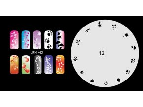 Fengda  JFH01-012 (airbrush nail art) körömsablon