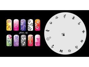 Fengda  JFH01-016 (airbrush nail art) körömsablon